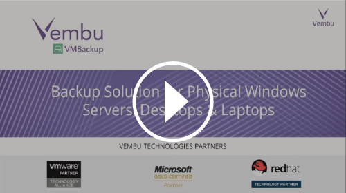 Backup Solution for Physical Windows Servers, Desktops & Laptops in Vembu ImageBackup