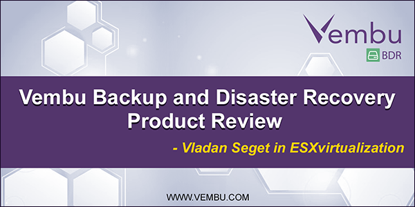 Product Review by Vladan Seget in ESXvirtualization
