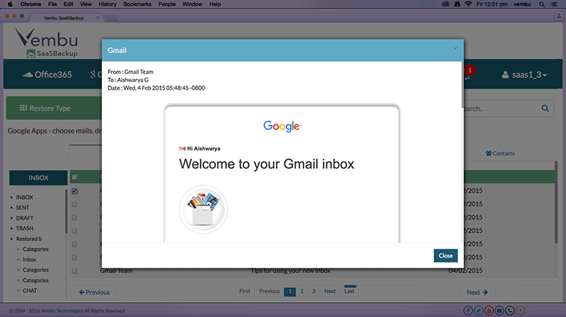 Individual Mail View