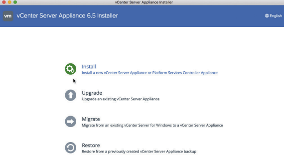 vCenter Server Appliance 6.5 Installer