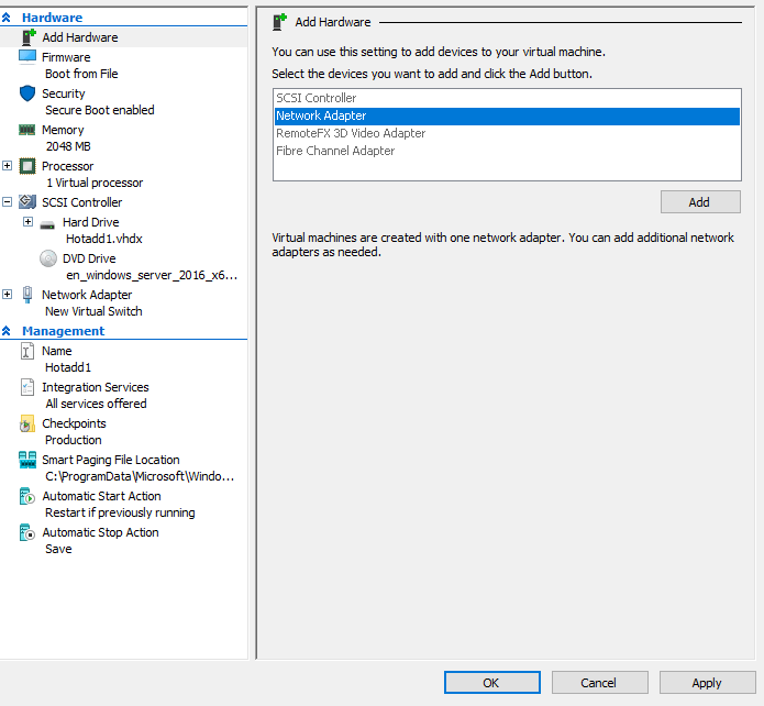 how to add physical network adapter hyper-v
