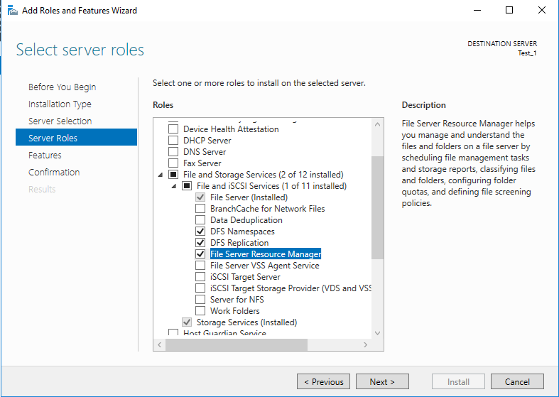 Install and Configure DFS on Windows Server 2016