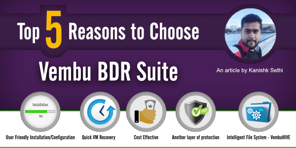 TOP 5 REASONS TO CHOOSE Vembu BDR Suite
