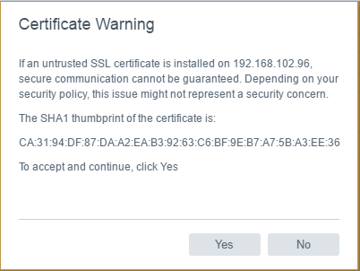 Certificate-warning