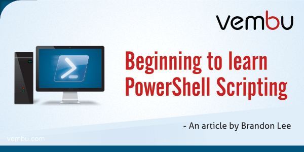 Beginning to learn PowerShell Scripting