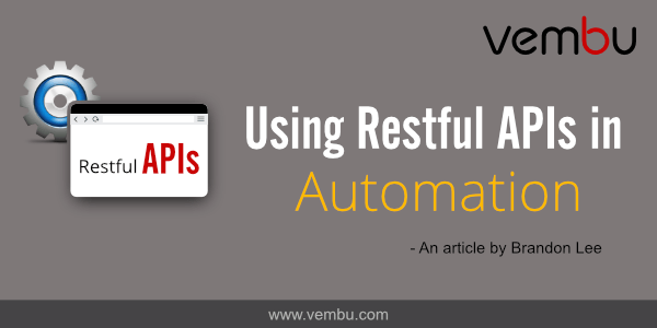 Using Restful APIs in Automation - vembu com
