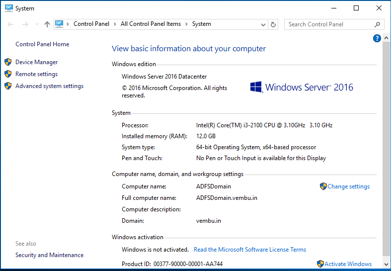 domain server 2016 turnoff how to add port