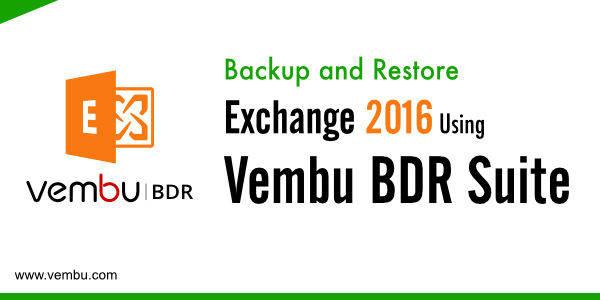 Backup and Restore Exchange 2016