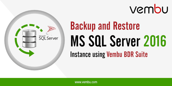 Backup and Restore MS SQL server