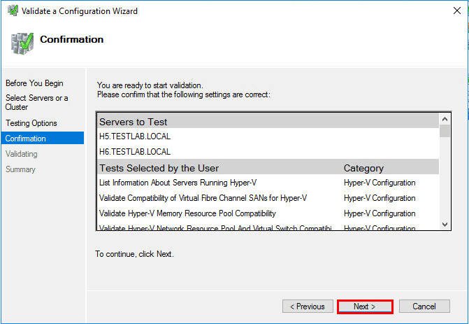 Setup a Failover Cluster in Windows Server 2016 Hyper-V
