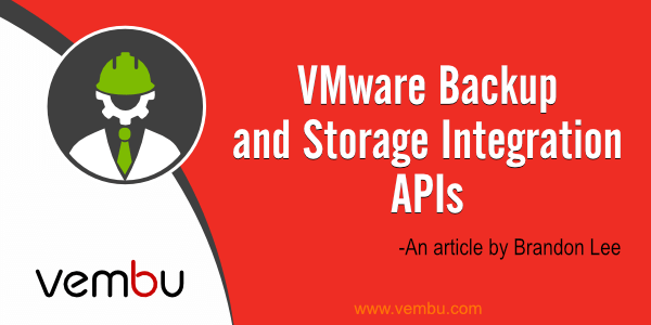 VMware-Backup-and-Storage-Integration-APIs