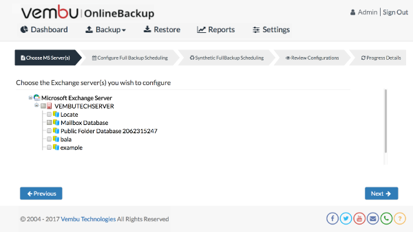 Microsoft Exchange Backup