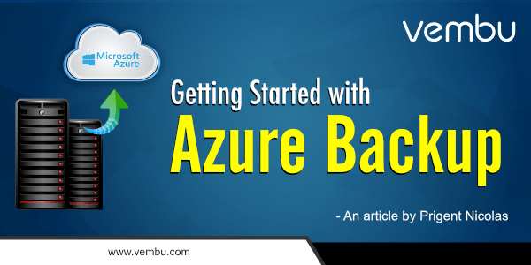 Getting Started with Azure Backup
