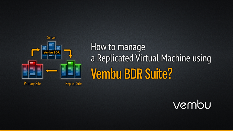 How to Manage a replicated Virtual machine using Vembu BDR Suite