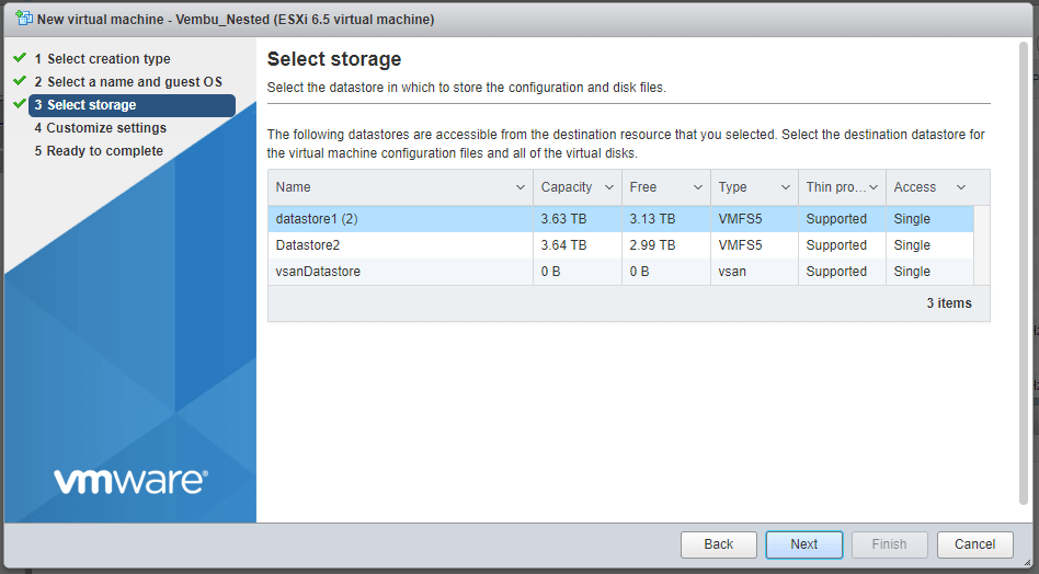 Steps to deploy Hyper-V VMs on a VMware ESXi Server