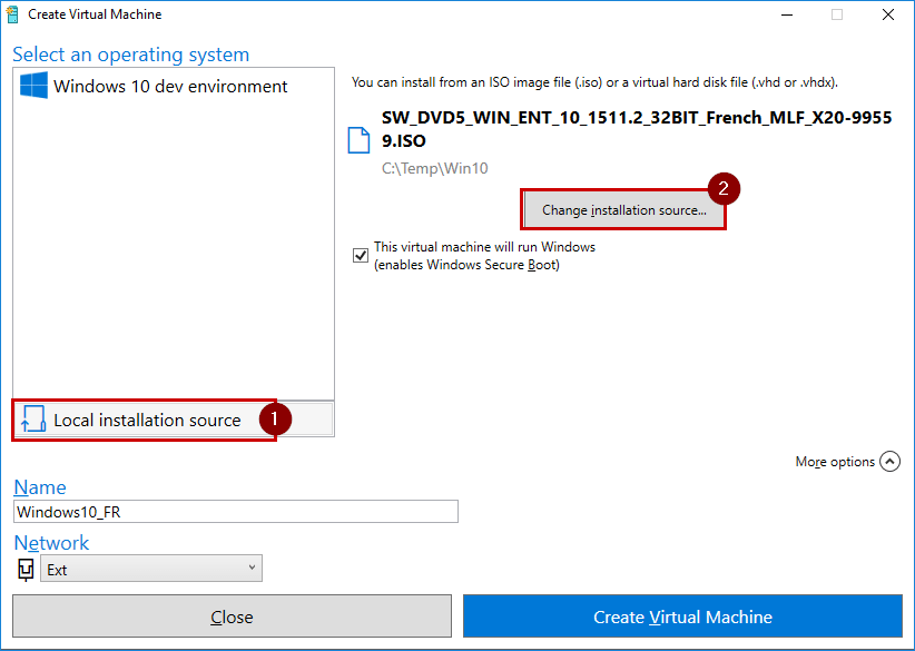 how to use vhd file in hyper v