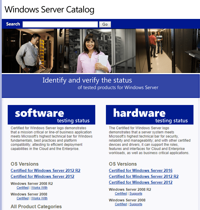 windows-server-catalog
