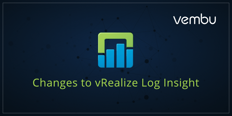 Changes to vRealize Log Insight