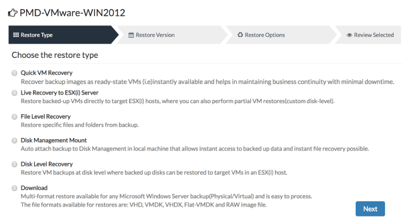 Configuring VMware Backup
