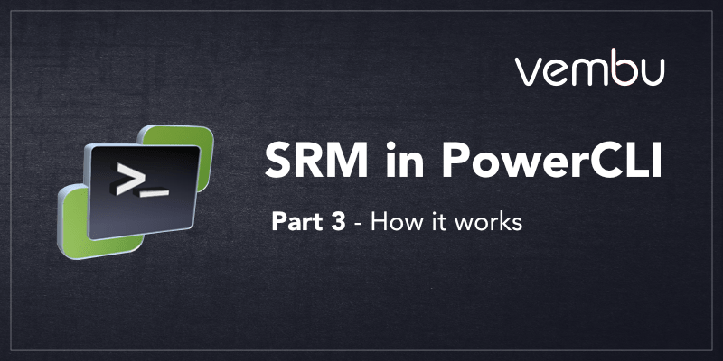 SRM in PowerCLI