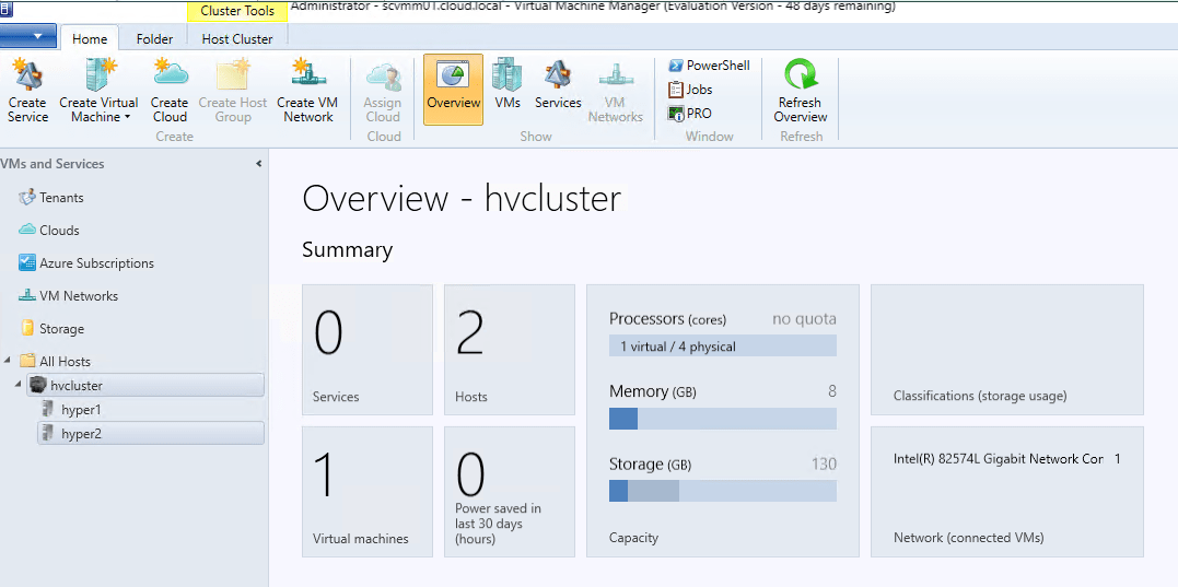 Hyper-V Cluster Configuration Performance and Security