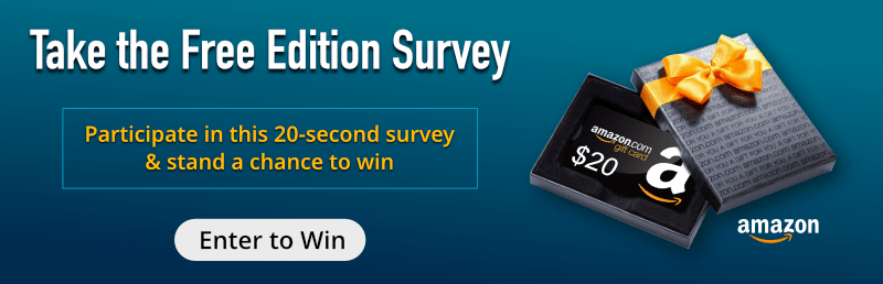 Free Edition Survey Banner