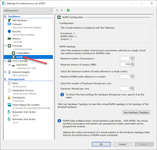 Configure Basic Hyper-V Virtual Machine Resources