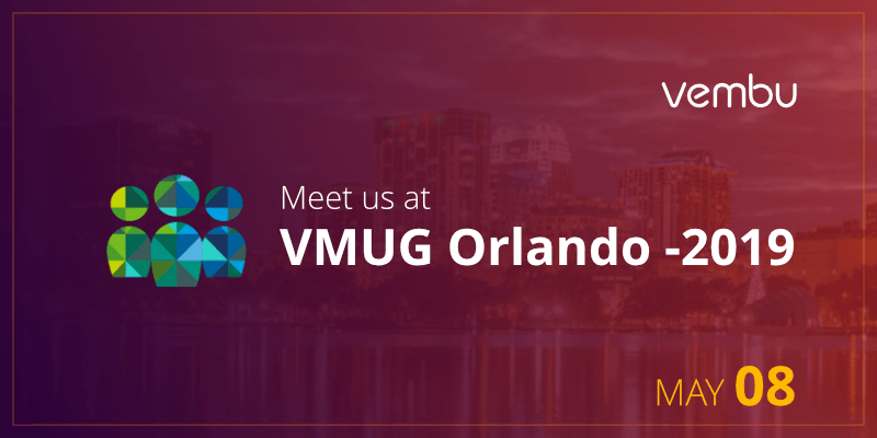 Meet us at VMUG Orlando -2019