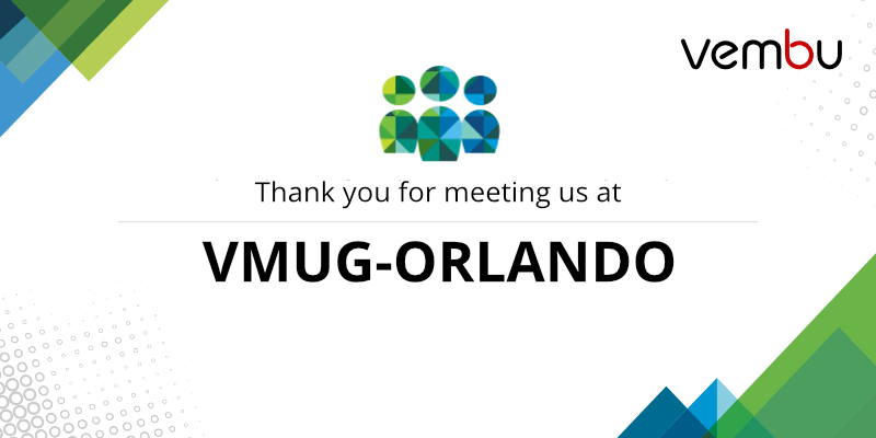 Thank you for meeting us at VMUG-ORLANDO
