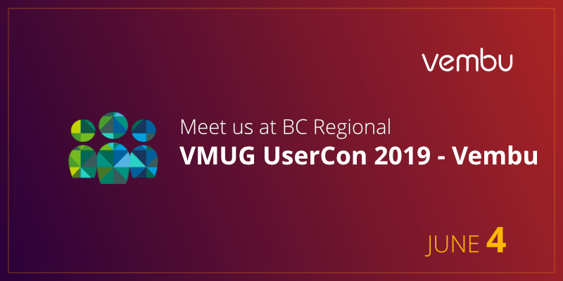 Meet us at BC Regional VMUG UserCon 2019 - Vembu