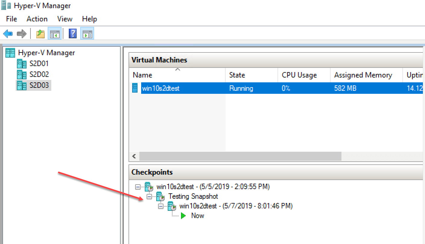How to work with and Manage Hyper-V Checkpoints