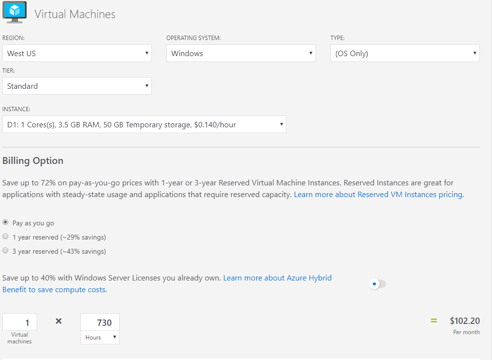Azure VM Infrastructure, Sizes, and Pricing - vembu