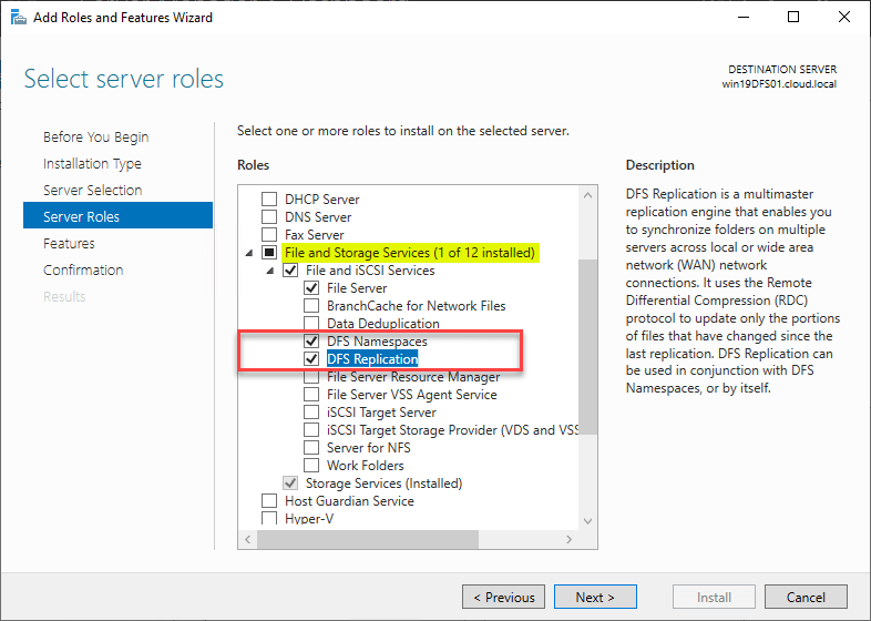 How to configure DFS Replication on Windows Server 2019