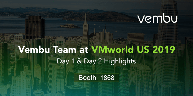Vembu Team at Booth 1868, VMworld US 2019