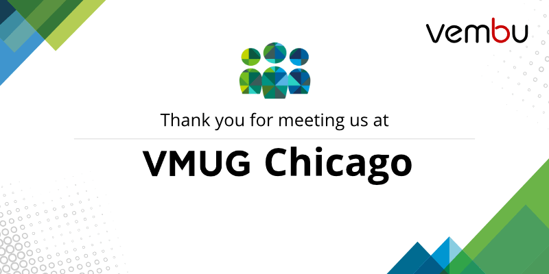 Thank you for meeting us at VMUG Chicago