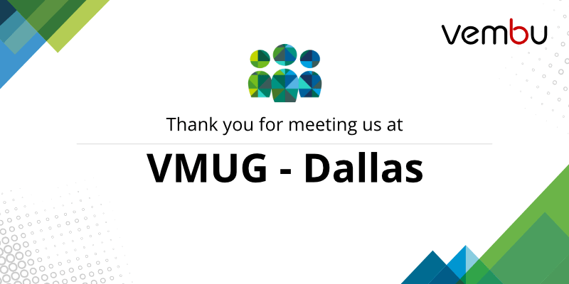vembu-at-vmug-dallas