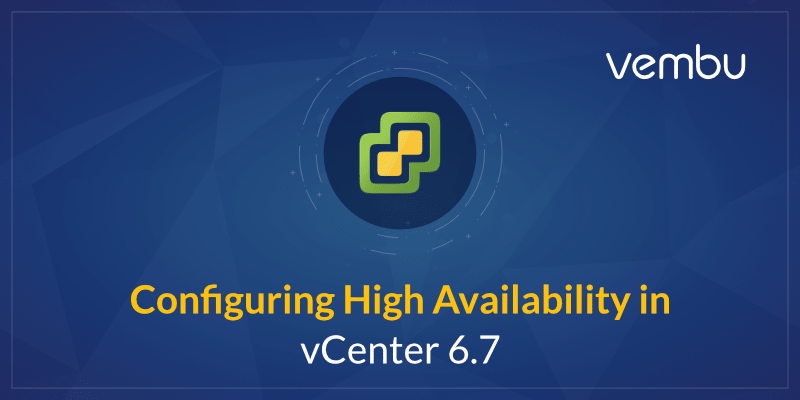 Configuring High Availability in vCenter