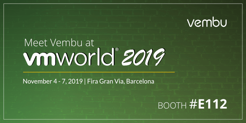 Meet Vembu at VMworld Europe 2019