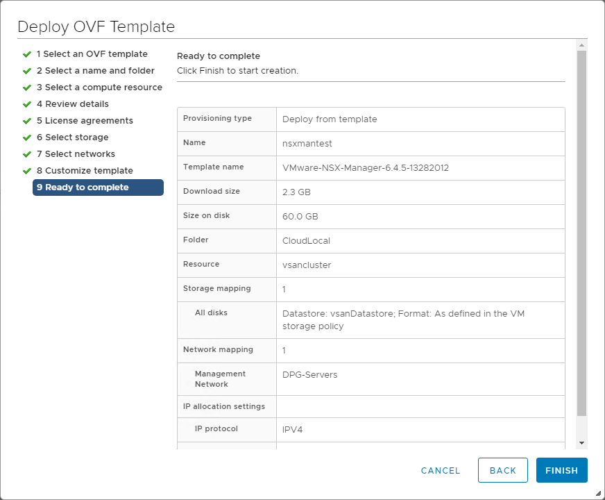 Deploying VMware NSX