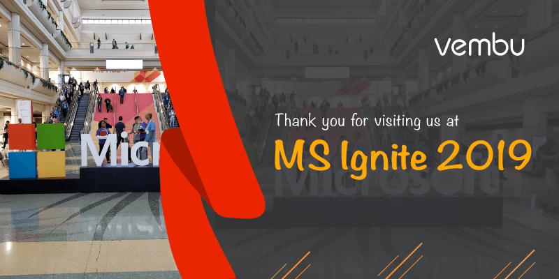 Thank you for visiting us at MS Ignite 2019