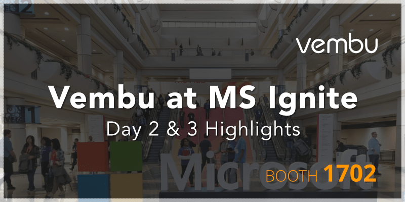 Vembu at MS Ignite