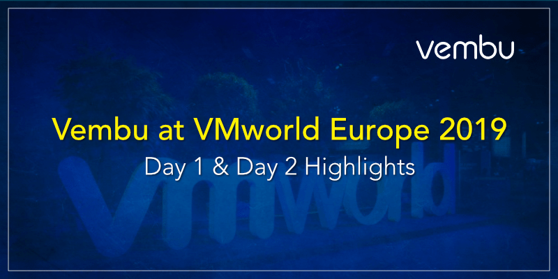 Vembu at VMworld Europe 2019