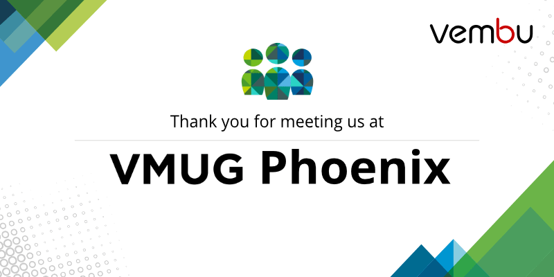 meeting us at VMUG Phoenix