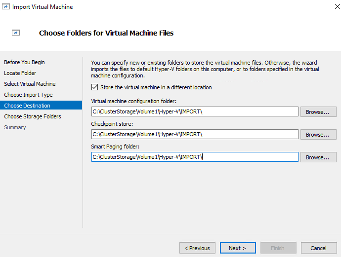 How to export and import VMs from Hyper-V