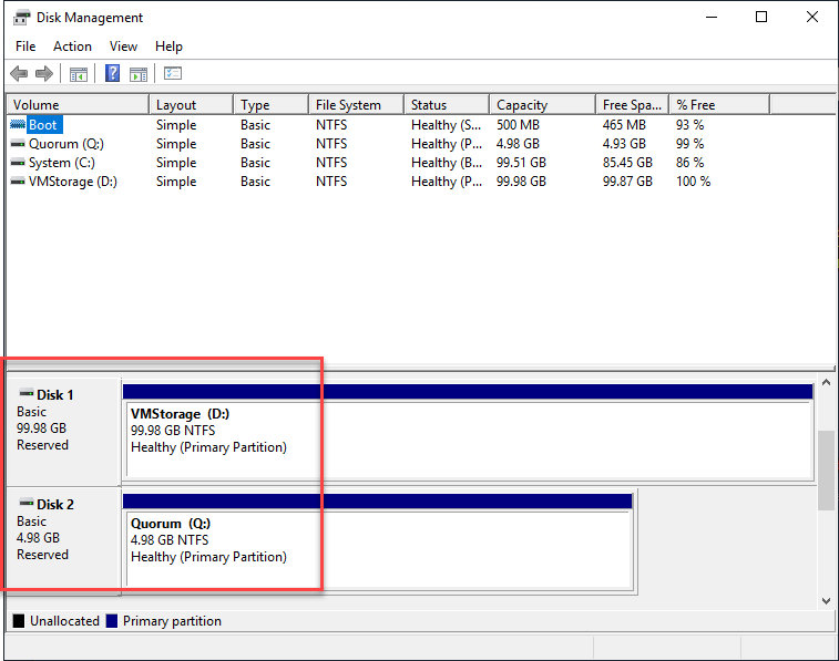 Configuring Hyper-V Shared Storage