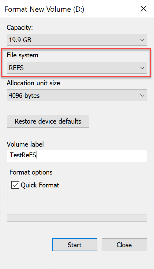 Windows Hyper-V NTFS vs ReFS