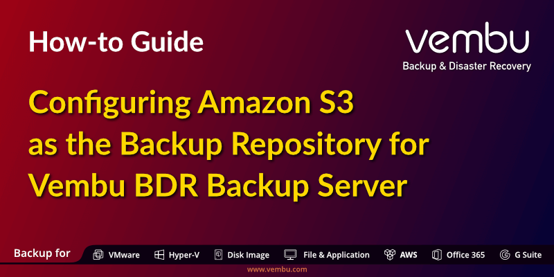 How-to guide- Configuring Amazon S3 as the Backup Repository