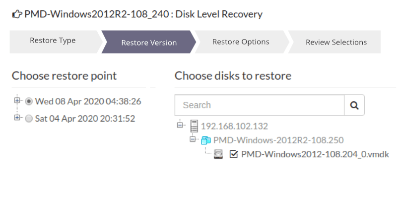 Disk Level Recovery
