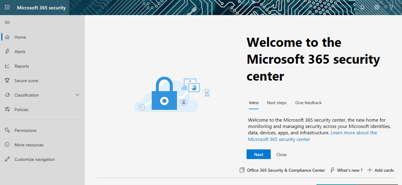 Microsoft 365 Security Center