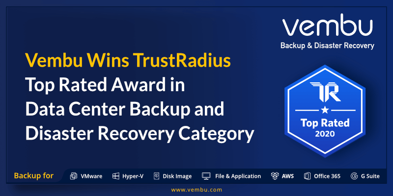 Vembu Wins TrustRadius Top Rated Award